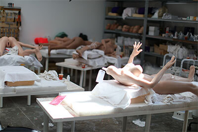 The silicone dolls manufacture